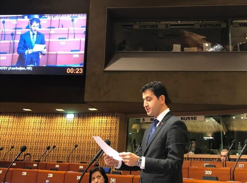 Nagif Hamzayev protests false information about Azerbaijan in PACE (PHOTO) - Gallery Image