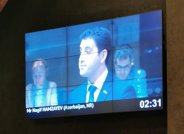 Nagif Hamzayev at PACE: Violations of law must be stopped! - Gallery Image