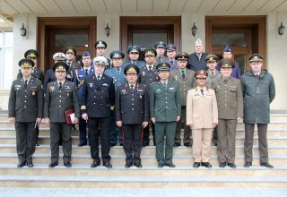 Military attaches of foreign countries in Azerbaijan visit Military Lyceum named after Jamshid Nakhchivanski (PHOTO)