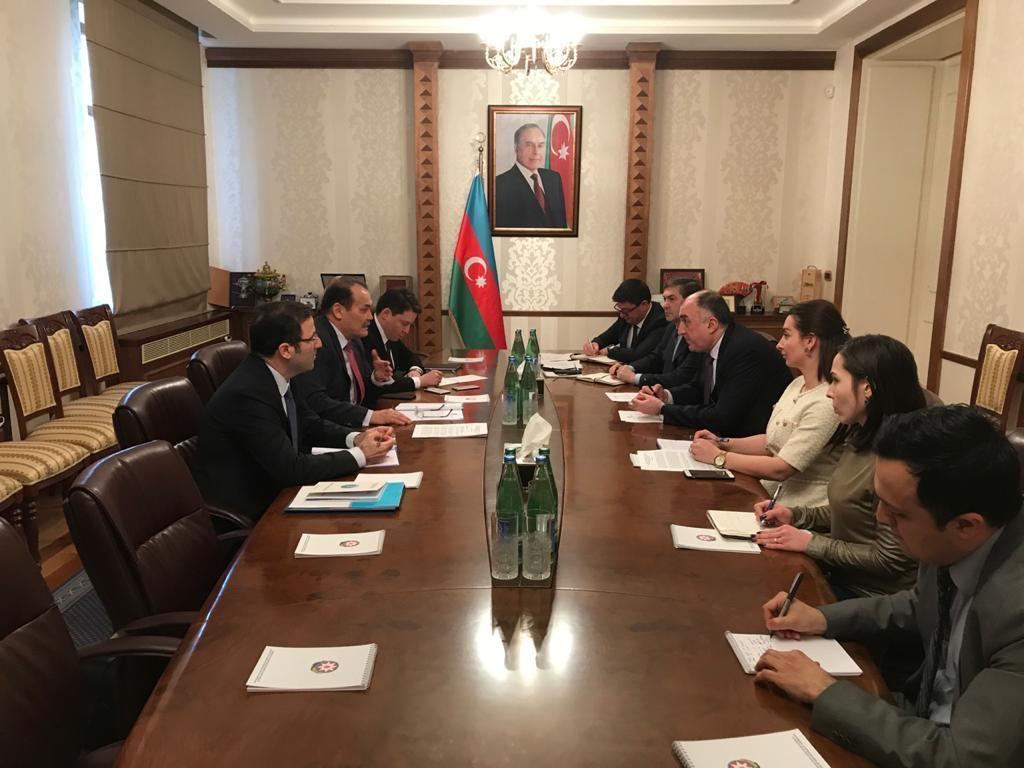 Elmar Mammadyarov meets with Secretary General of the Cooperation Council of Turkic-Speaking States (PHOTO)