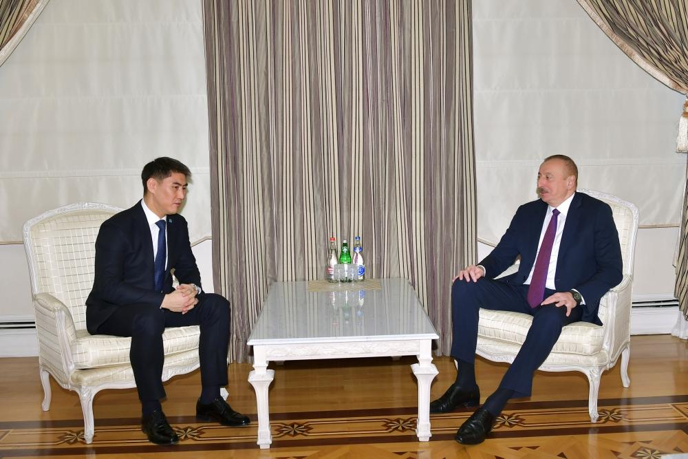 President Ilham Aliyev receives foreign minister of Kyrgyzstan