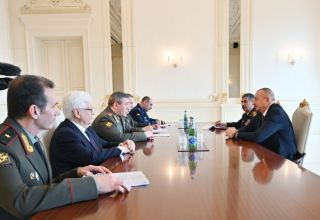 President Ilham Aliyev receives delegation led by Chief of General Staff of Russian Armed Forces