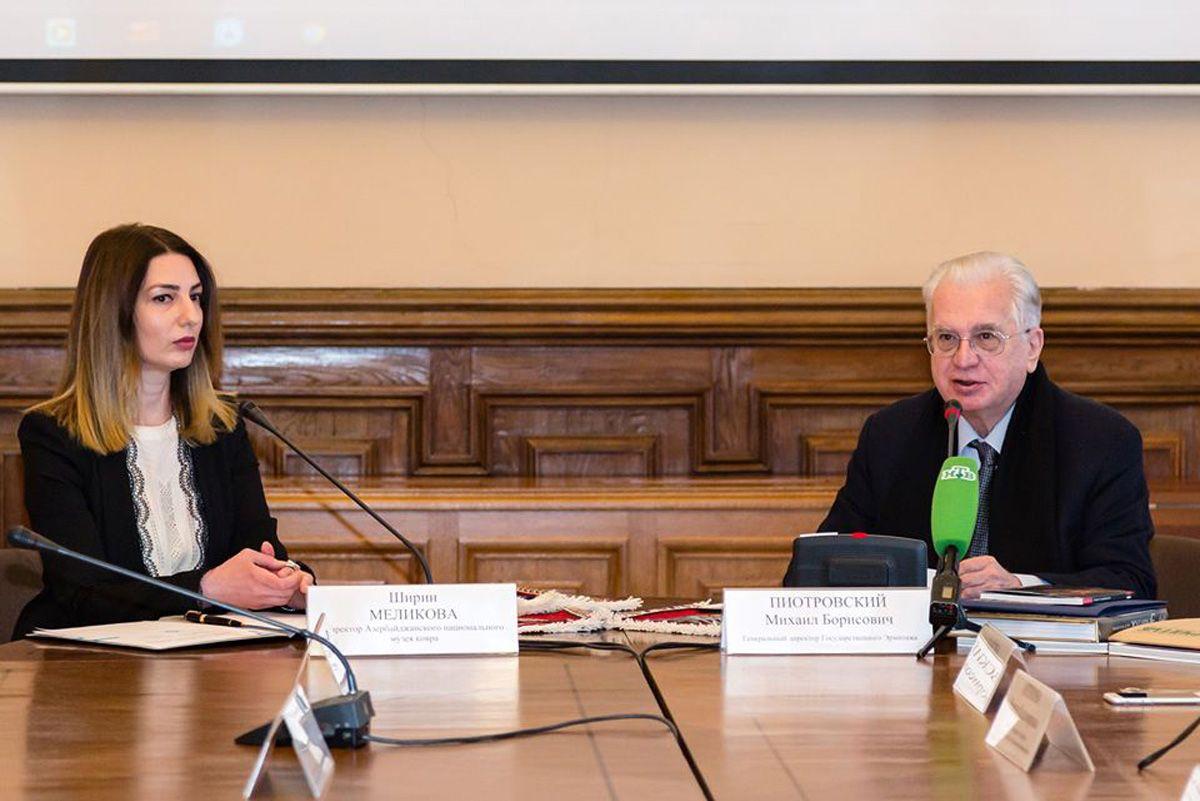 Азербайджанский национальный музей ковра договорился о сотрудничестве с Эрмитажем (ФОТО) - Gallery Image