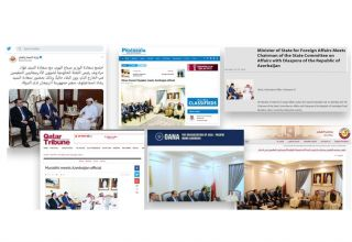 Meetings of Azerbaijan's State Committee on Work with Diaspora in Arab countries widely covered by foreign media