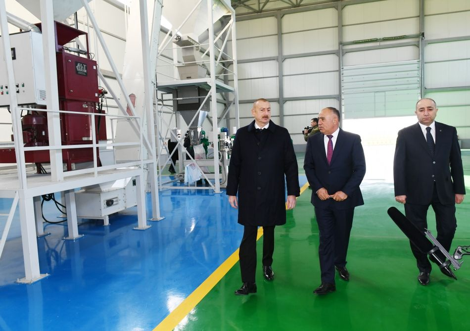 President Ilham Aliyev attends presentation of agropark owned by Global Agro LLC in Kurdamir - Gallery Image