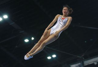 Podium training of gymnasts underway on eve of World Cup in Trampoline and Tumbling in Baku (PHOTO)