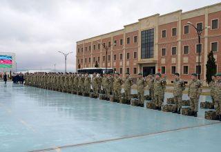 Группа азербайджанских миротворцев вернулась из Афганистана (ФОТО)