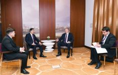 President Aliyev meets with Secretary General of Shanghai Cooperation Organization in Munich (PHOTO) - Gallery Thumbnail
