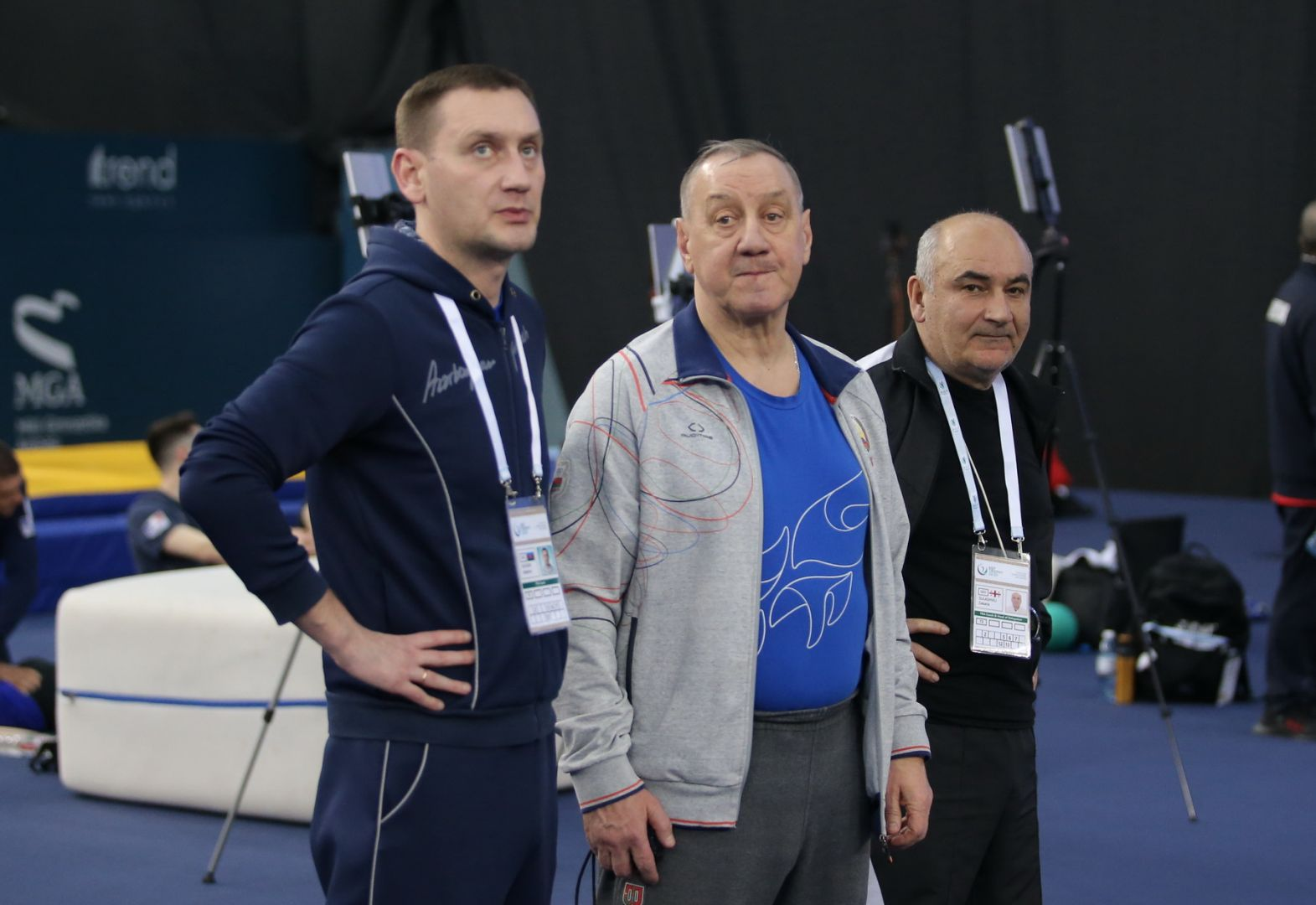 Milli Gimnastika Arenasında batut gimnastikası və tamblinq üzrə Dünya Kubokunun iştirakçılarının podium məşqləri keçirilir (FOTO) - Gallery Image