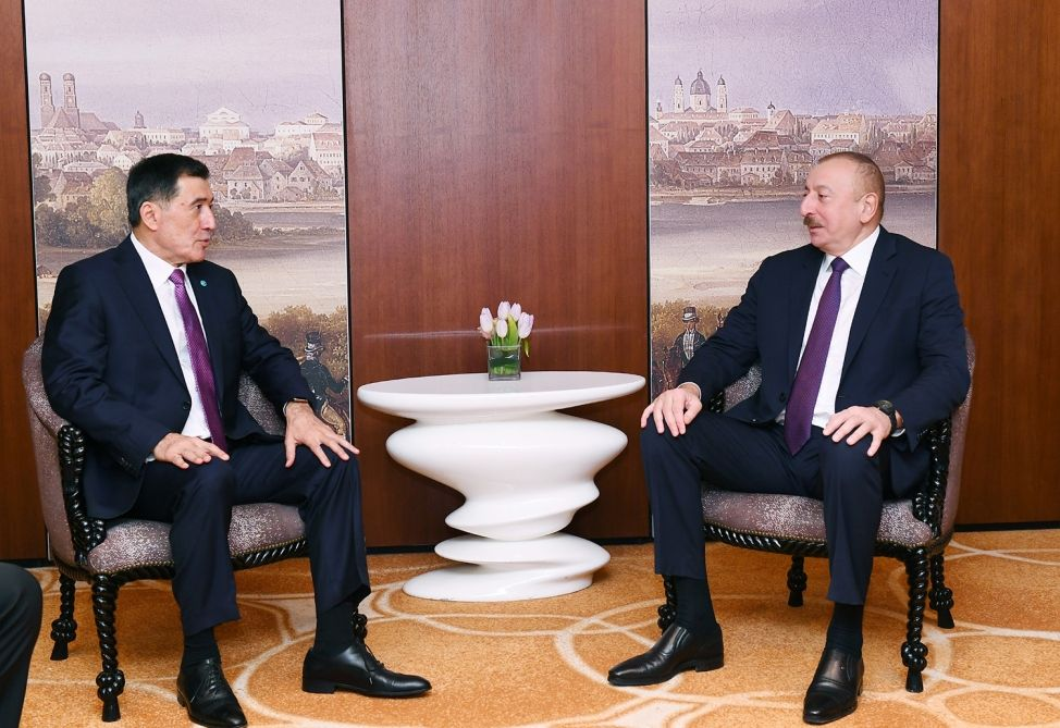 President Aliyev meets with Secretary General of Shanghai Cooperation Organization in Munich (PHOTO) - Gallery Image