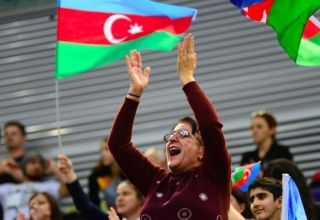 Emotions of fans at FIG World Cup in Trampoline Gymnastics & Tumbling in Baku (PHOTO)