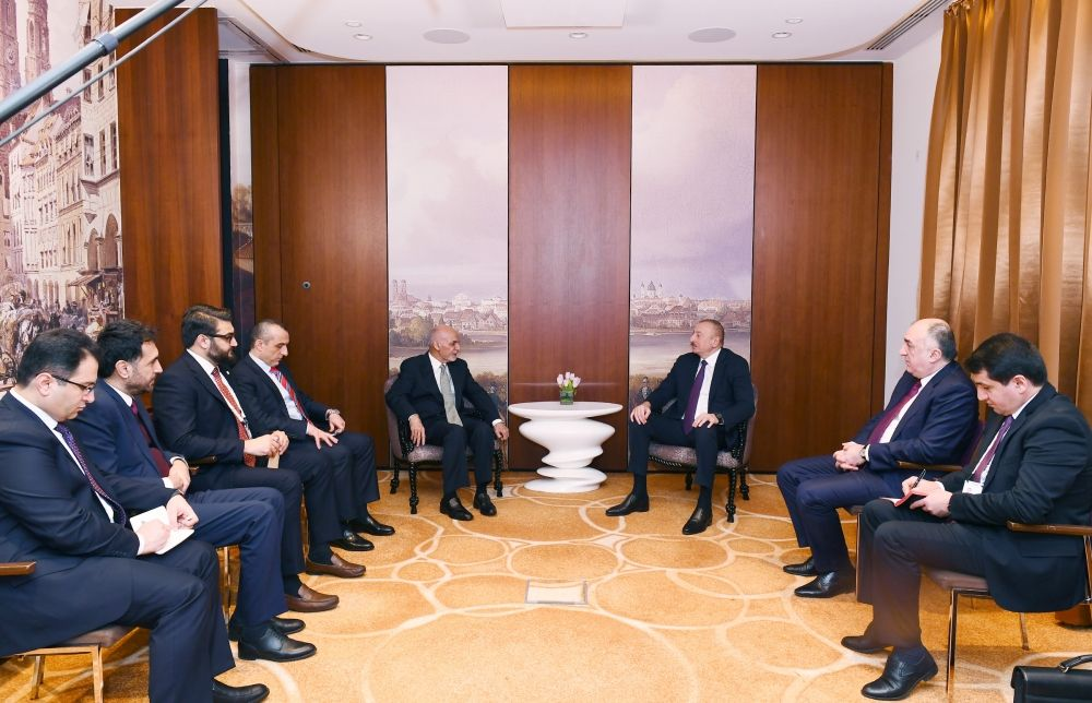 President Ilham Aliyev met with Afghan President in Munich (PHOTO)