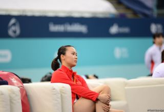 Chinese gymnast ranks first in individual trampoline program at FIG World Cup in Baku