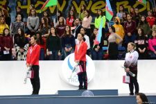 Awarding ceremony for winners of individual program at FIG World Cup in Trampoline Gymnastics & Tumbling held in Baku (PHOTO) - Gallery Thumbnail