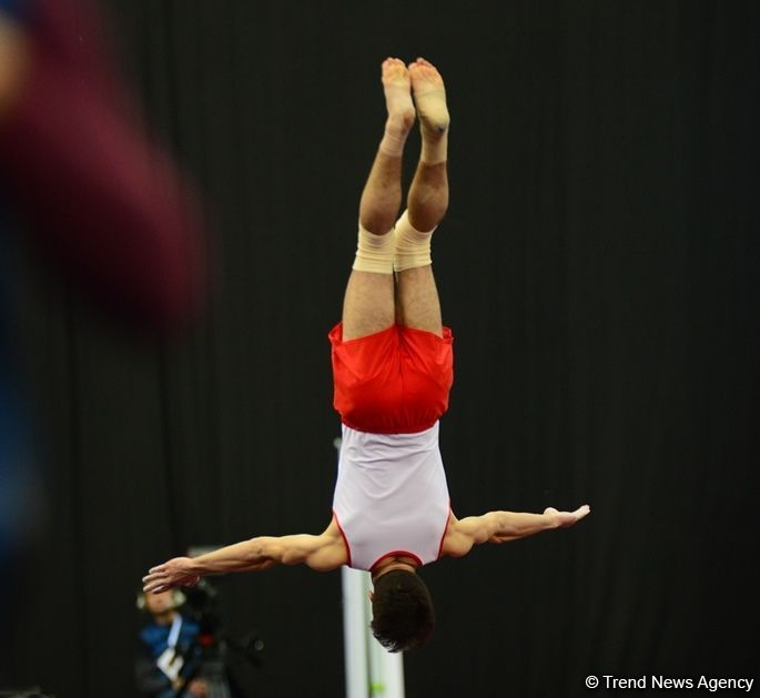 US gymnast wins gold medal in tumbling at FIG World Cup in Baku