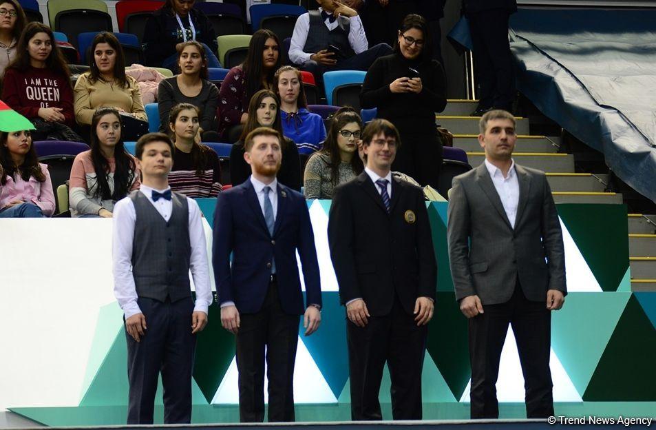 Состоялась церемония награждения победителей и призеров в синхронной программе по прыжкам на батуте в рамках Кубка мира (ФОТО) - Gallery Image