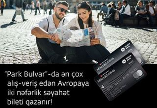 "Make more purchases at ""Park Bulvar"" and win a ticket for two to Europe!"