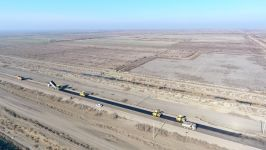 Начата реконструкция дороги между Кюрдамирским и Зардабским районами (ФОТО) - Gallery Thumbnail