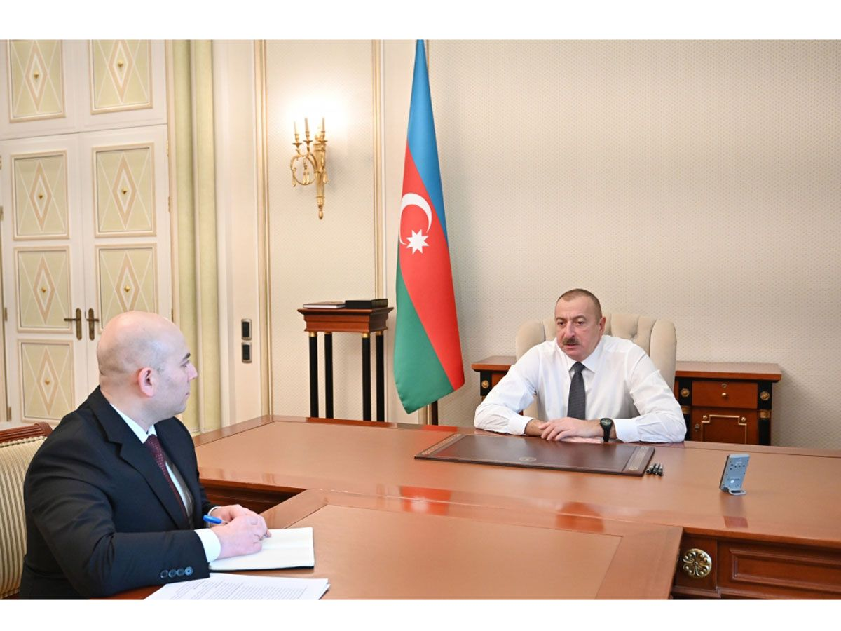 President Ilham Aliyev receives chairman of Board of Baku Transport Agency (PHOTO/VIDEO)