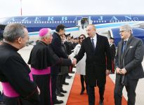 Azerbaijani president arrives in Italy for state visit (PHOTO) - Gallery Thumbnail