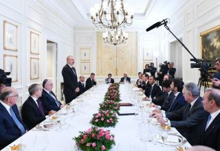 President Ilham Aliyev had working dinner with heads of Italian largest companies (PHOTO)
