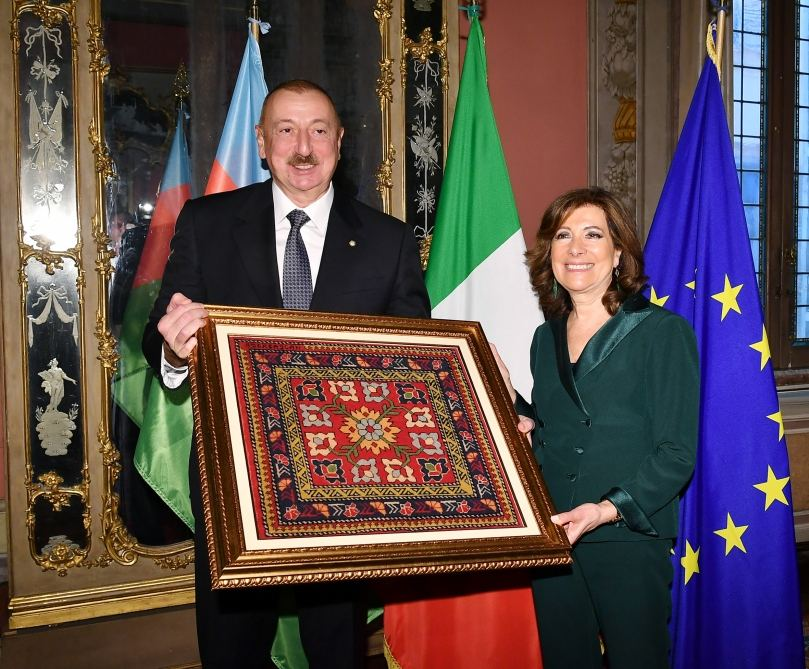 Azerbaijani president meets with president of Italian Senate (PHOTO) - Gallery Image