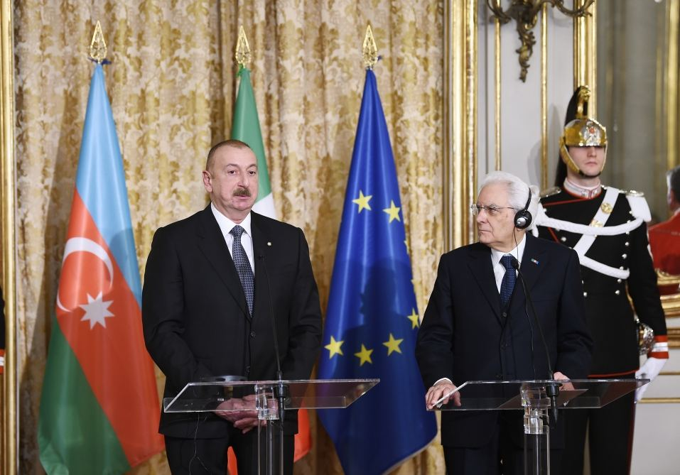 President Ilham Aliyev: Italy, Azerbaijan respect and support each other's territorial integrity, sovereignty, inviolability of borders