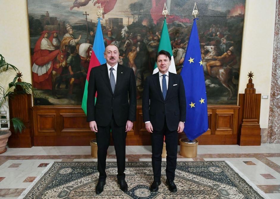 Состоялась встреча Президента Ильхама Алиева с председателем Совета министров Италии Джузеппе Конте (ФОТО) - Gallery Image