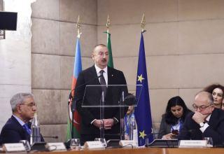 Президент Ильхам Алиев: Наша основная задача - диверсификация торговых связей между Азербайджаном и Италией