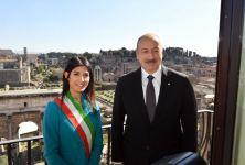 President Ilham Aliyev met with mayor of Rome (PHOTO) - Gallery Thumbnail