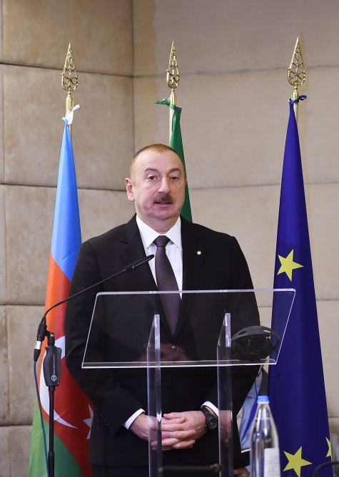 President Ilham Aliyev attends Azerbaijan-Italy business forum in Rome (PHOTO) - Gallery Image