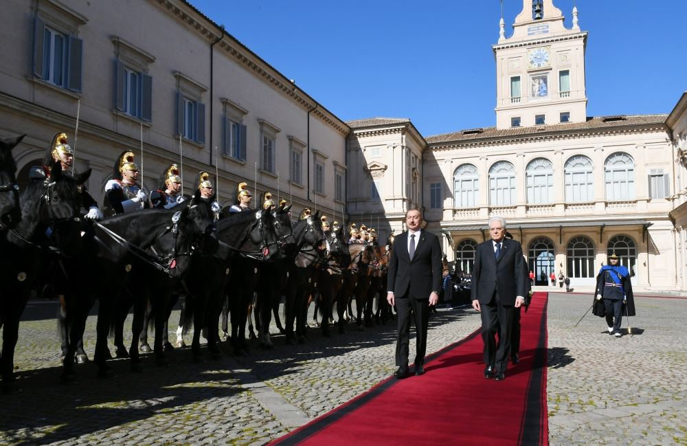 Official seeing-off ceremony held for President Ilham Aliyev in Rome (PHOTO)