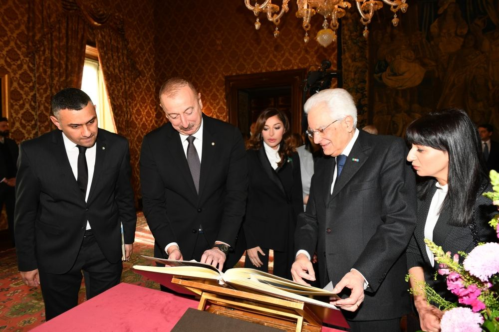 Official seeing-off ceremony held for President Ilham Aliyev in Rome (PHOTO) - Gallery Image