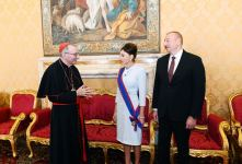 Azerbaijan's President Ilham Aliyev, First Lady Mehriban Aliyeva meet with Vatican Secretary of State Cardinal (PHOTO) - Gallery Thumbnail