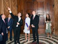 President Ilham Aliyev and first lady Mehriban Aliyeva viewed Sistine Chapel and St. Peter's Basilica in Vatican (PHOTO) - Gallery Thumbnail