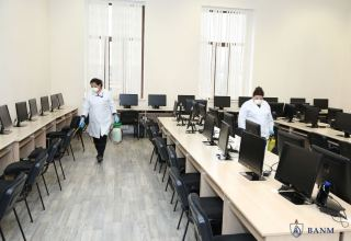 Disinfection against coronavirus carried out at Baku Higher Oil School (PHOTO)