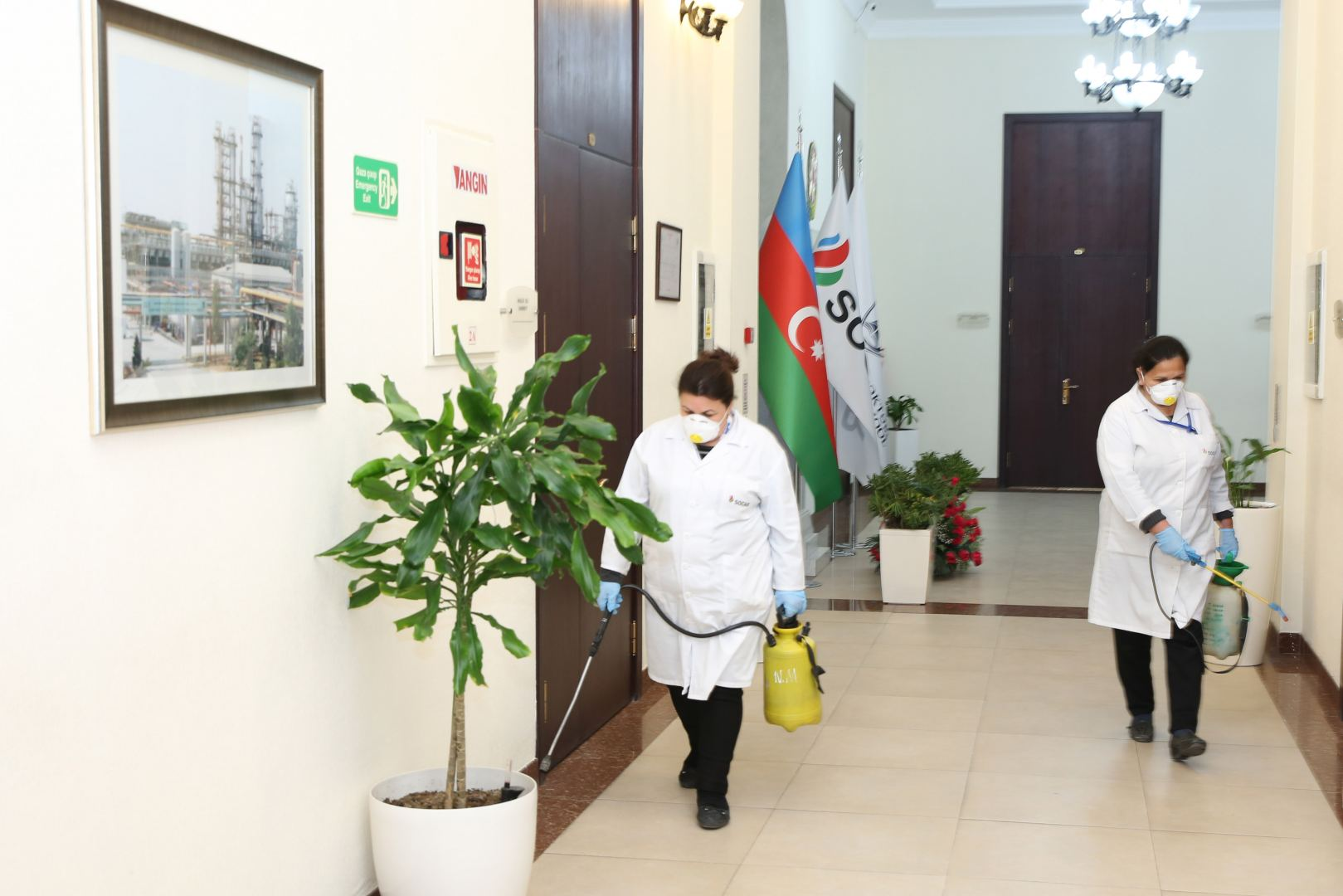 Disinfection against coronavirus carried out at Baku Higher Oil School (PHOTO) - Gallery Image