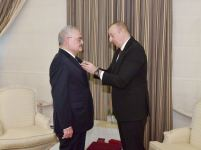 "President Ilham Aliyev presented Order ""For Service to Motherland"" 1st Class to Artur Rasizade (PHOTO) - Gallery Thumbnail"