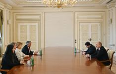 President Ilham Aliyev receives delegation led by UK Prime Minister's Trade Envoy to Azerbaijan (PHOTO) - Gallery Thumbnail