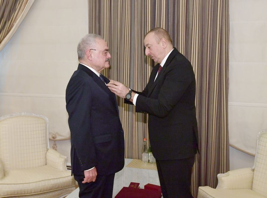 "President Ilham Aliyev presented Order ""For Service to Motherland"" 1st Class to Artur Rasizade (PHOTO)"