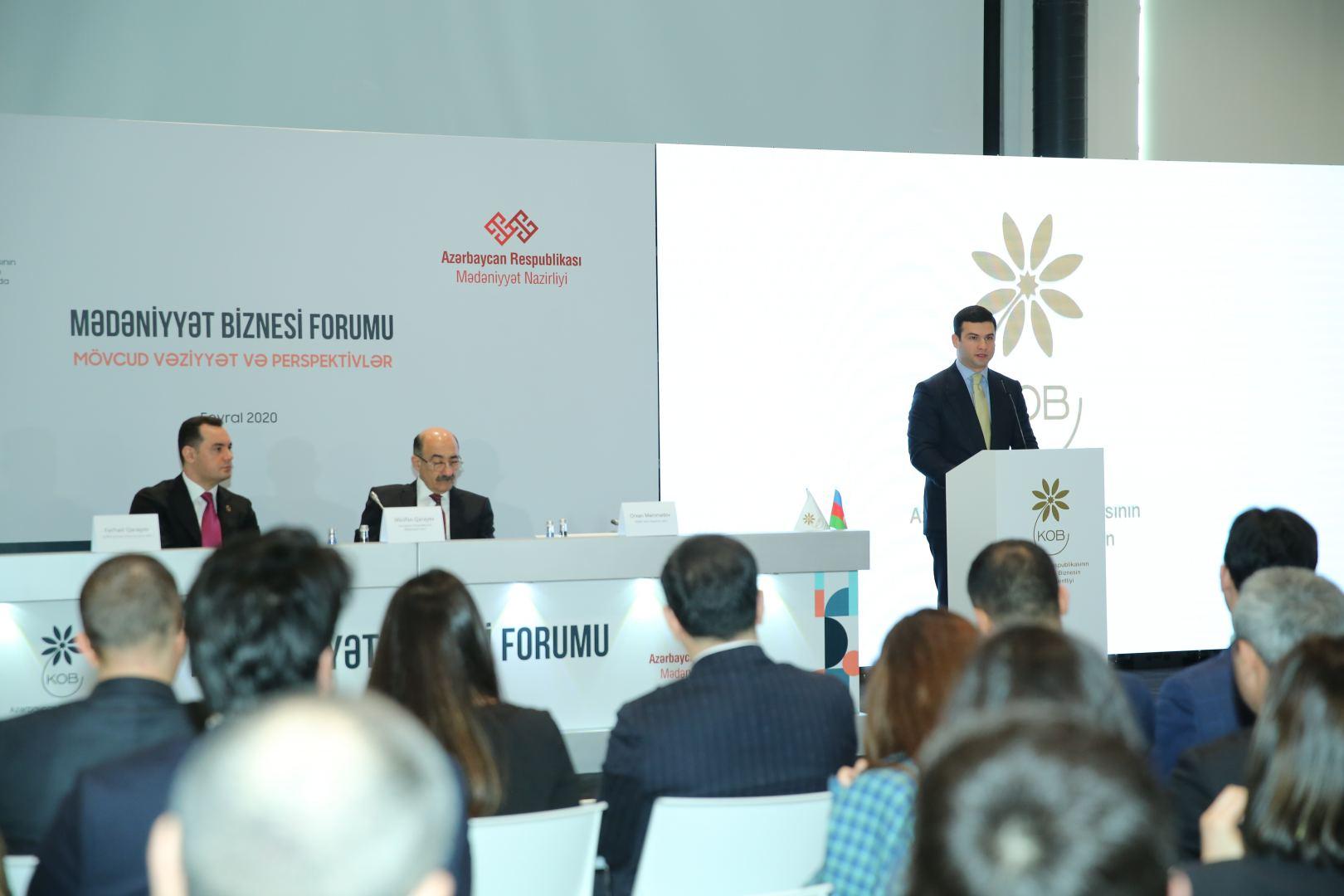 В Баку прошел форум по развитию бизнеса в сфере культуры и искусства (ФОТО) - Gallery Image