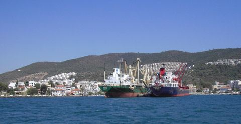 Data on cargo transshipment through Turkish Gulluk port revealed