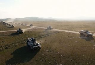 Azerbaijani troops involved in exercises moving to operational areas (PHOTO) (VIDEO)
