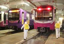 Metroda dezinfeksiya işləri aparılır (FOTO) - Gallery Thumbnail