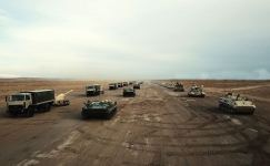 Azerbaijani army starts large-scale exercises (PHOTO/VIDEO) - Gallery Thumbnail