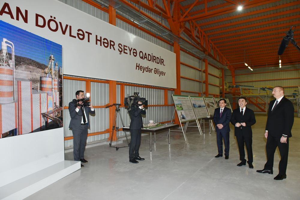 Prezident İlham Əliyev Qazaxda əhəng zavodunun açılışında iştirak edib (FOTO/VİDEO) (YENİLƏNİB) - Gallery Image