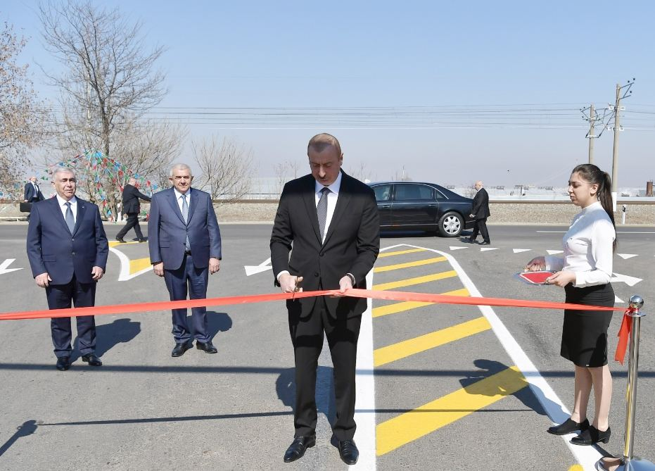 Azerbaijani president attends opening of newly reconstructed highway in Tovuz (PHOTO) - Gallery Image