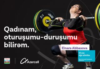 Azercell congratulates all ladies in representation of female athletes (PHOTO/VIDEO)
