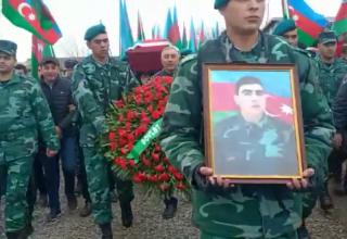 Ставший шехидом азербайджанский пограничник предан земле в родном селе (ФОТО)