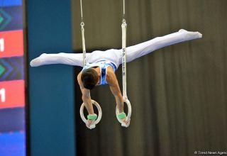 Competitions of AGF Junior Trophy International Tournament in Men's Artistic Gymnastics continue in Baku National Gymnastics Arena (PHOTO
